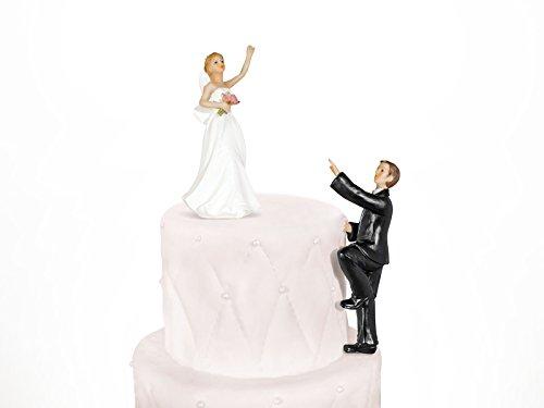Brautpaar, Hochzeitspaar | Tortenaufsatz Tortenfigur Dekofigur 2-teilig Kuchendekoration | Hochzeit...