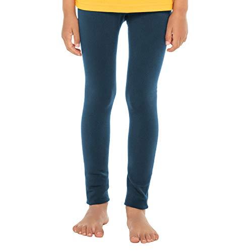 Celodoro Kinder Thermo Leggings (1 Stück) - warme Unterhose lang mit Innenfleece - Blau 134-140