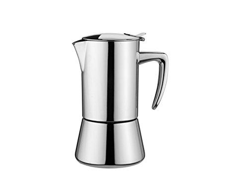 KAUFGUT 121902 Miss Diamond ekspres do kawy ze stali nierdzewnej, na 4 filiżanki, wielokolorowy