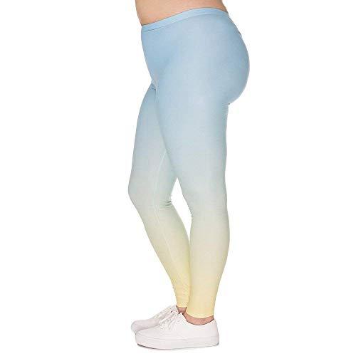 HaiDean yogabroek chic grote maat jongens leggings omber geel gedrukt hoge taille leggings plus size broek stretch broek pruim vrouwen