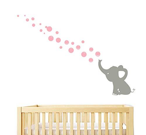 Sayala 1 Elefante Bebé Elefante pared pegatinas y murales,Vinilo Adhesivo Infantil Pegatina Pared Para Dormitorio Sala Elefante,pared dodoskinz la habitación del bebé