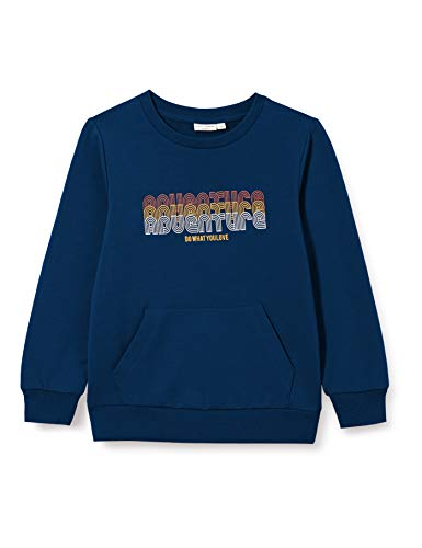 NAME IT Jungen NMMVUGO LS SWE BRU O Pullover, dunkelblau/Print, 98
