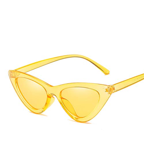 DURIAN MANGO Euroamerikanische Mode Cat-Eye Sonnenbrillen Damen Persönlichkeit Sonnenbrillen,Yellow