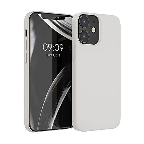 kwmobile Hülle kompatibel mit Apple iPhone 12/12 Pro - Hülle Handyhülle gummiert - Handy Hülle in Beige matt