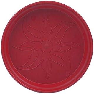طبق اصيص زرع دائري بلاستيك من مينترا - 14 سم، احمر