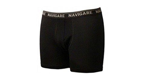 Navigare 6 Boxer Uomo Cotone Elasticizzato con Elastico Esterno Art.573/E Nero (TG.5/L)