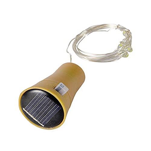 5/10 piezas de cadena de luz para tapón de botella de energía solar, cadena de luz LED impermeable decoración lámpara cadena (blanco cálido 20 luces, 6 piezas)