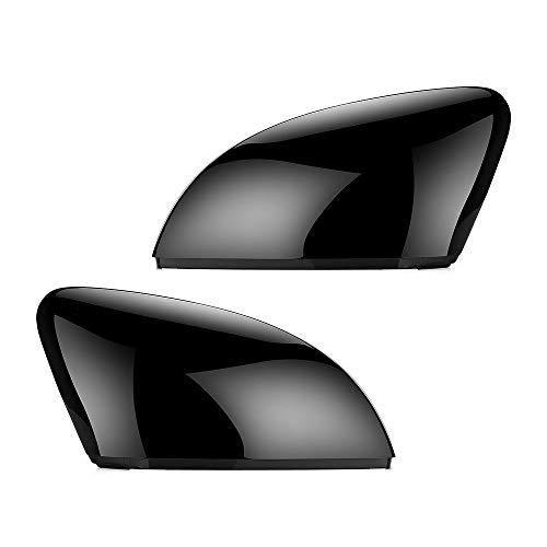 TUZIOUBA Espejo retrovisor Carcasas 2 unids for Volkswagen VW Polo MK5 6R 6C ABS Lado Vista Posterior Reemplazo de Espejo Reemplazo Cáscara de Shell Negro Lado Espejo Caps Accesorios