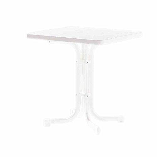 Sieger Boulevard-klaptafel met decoratieve mecalit-Pro-plaat 70 x 70 cm wit