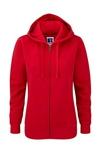 Z266F Damen Authentic Hooded Sweatjacke Sweatshirtjacke Jacke mit Kapuze, Größe:XL;Farbe:Classic Red