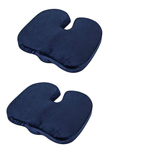 ZQSM 2pcs Best Memory Cotton Seat Cushion for Office Chair, Comfort Cushion Seat Cushion for Car Seat, Wheelchair and etc.