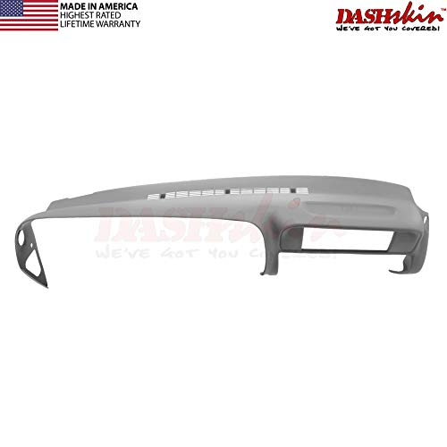 DashSkin Molded Dash Cover Compatible with 97-00 GM SUVs and Pickups in Medium Grey (USA Made)