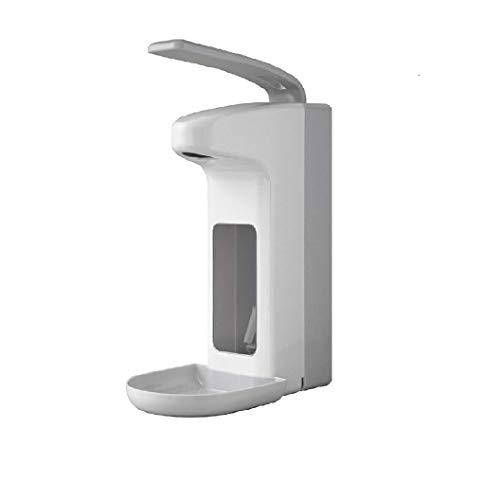 Hezhu Seifenspender 500 ml aus sterilem Kunststoff inkl. Tropfschale Hygienischer Eurospender mit Wandmontur für Praxis und Zuhause