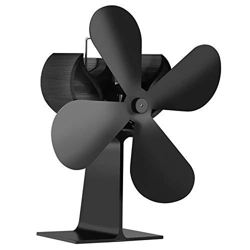 DyNamic Schwarzer 4-Flügeliger, Wärmebetriebener Holzkamin-Ofenventilator Für Gas-Pellets-Ventilatoren