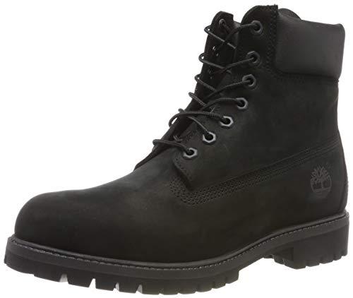Timberland 6 Inch Premium, Stivali Uomo, Pelle, Larghezza scarpa: medium, Nero (Black Nubuck), 41 EU