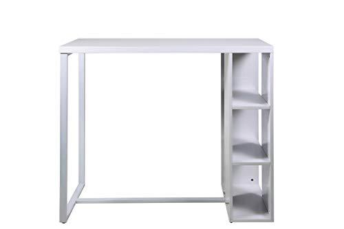 AC Design Furniture Daryl Table de Bar, MDF, Blanc, L: 60 x l: 120 x H: 105 cm
