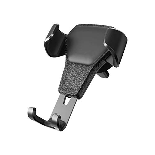 HIrkase Phone Holder for Car, Car Phone Holder with One Button Release and Dual-Sized Clip,Gravity Auto Clamp Stand Cradle for i Phone SE/11 Pro/11/XS Max/XS/XR/X/8/7/6 Plus, Galaxy(Black)