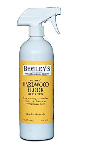 Begley's Best Earth Responsible Natural Plant-Based Hardwood Floor Cleaner, Fresh Citrus Scent, 24 oz