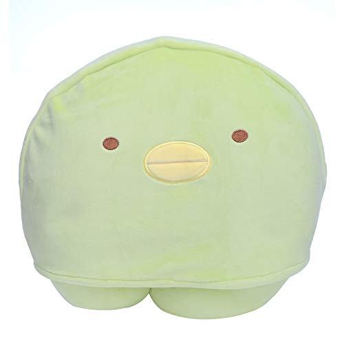 W!ZH Cartoon Animal 2 in 1 U Shaped Neck Pillow with Hat, Neck Head Support Head Stress Relief Air Traveling Pillows for Sleeping Rest, Airplane, Car, Home Use (Green)