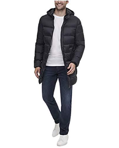 Calvin Klein Men's Light Weight Stretch Puffer Jacket, Black, Small