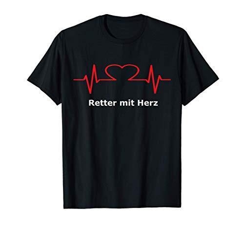 Retter mit Herz Feuerwehr und Rettungsdienst T-Shirt