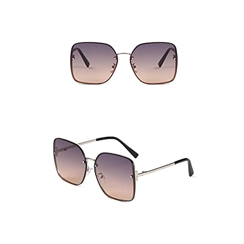 Aetygh Gafas de Sol de Moda para Mujer Lente Cuadrada UV400 (Color : C3, Size : 62mm)