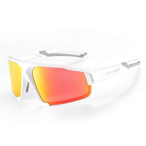 ROCKBROS Sportbrille Polarisierte Sonnenbrille Fahrradbrille mit UV400 Schutz Radbrille für Outdoor-Aktivitäten wie Radfahren Autofahren Klettern Angeln Golf Unisex