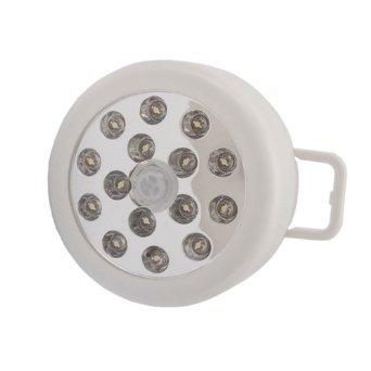 Generic Easy utilizar 15 LED lámpara de noche Sensor de movimiento Sensor infrarrojo blanco bombillas de bajo consumo