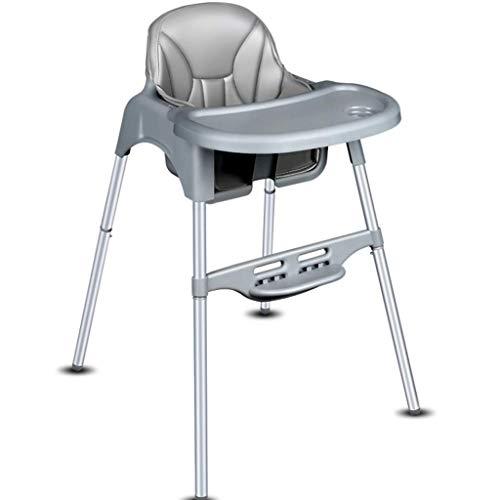 Household Necessities/baby klassieke hoge stoel met dienblad, veiligheidsgordel, voor kinderen, eettafel, verstelbaar, multifunctionele zitting, kinderwagen grijs.