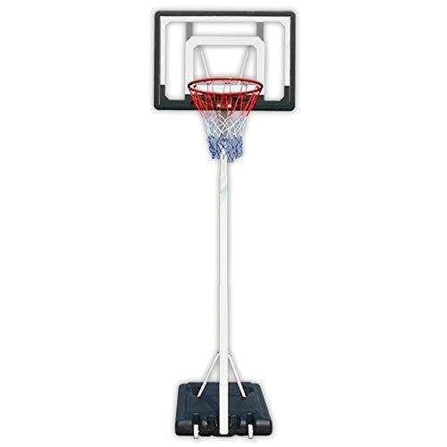 Canasta baloncesto pared Sistema de baloncesto ajustable soporte del tubo cuadrangular reforzada interior y exterior de PVC transparente del tablero trasero, una función de polea en el chasis