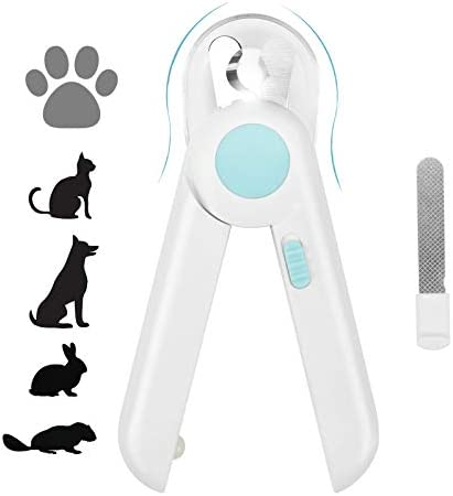 Yoobure Cat Dog Nail Clippers and Trimmer Pet Nail Clippers with LED Light to Avoid Over Cutting product image
