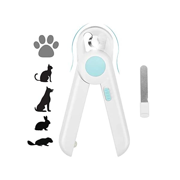 Yoobure Cat Dog Nail Clippers and Trimmer, Pet Nail Clippers with LED Light to Avoid...