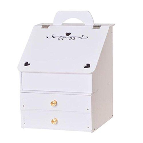Coffrets de maquillage Grand Cosmétique Boîte de Rangement Tiroir De Rangement Rack Commode Finition Rack Bureau de Soins de La Peau Boîte de Rangement 21 * 25 * 36 cm (8.2 * 9.8 * 14.1 Pouce)