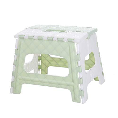 Sansund Mehrzweck-Tritthocker aus Kunststoff, zusammenklappbar, für Zuhause, Zuhause, im Freien, einfache Lagerung, 22 x 17 x 19 cm, faltbarer Hocker für Kinder lichtgrün