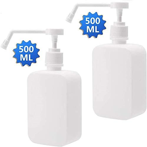 Lachi Flacons en transparent 2 x 500ml.Rechargeable/Arrosage/Organique/huile/Cheveux/Nettoyage
