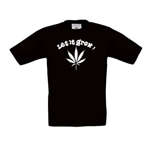 Let It Grow. – Cannabis, T-shirt pour enfant, unisexe, noir
