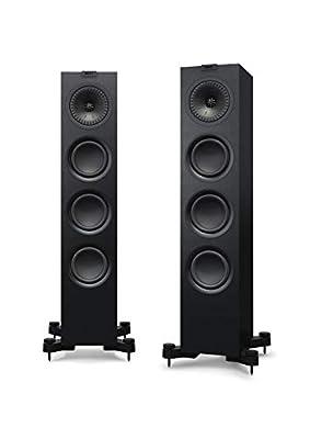KEF Q550 Floor standing Speaker, Satin Black (Pair) by KEF