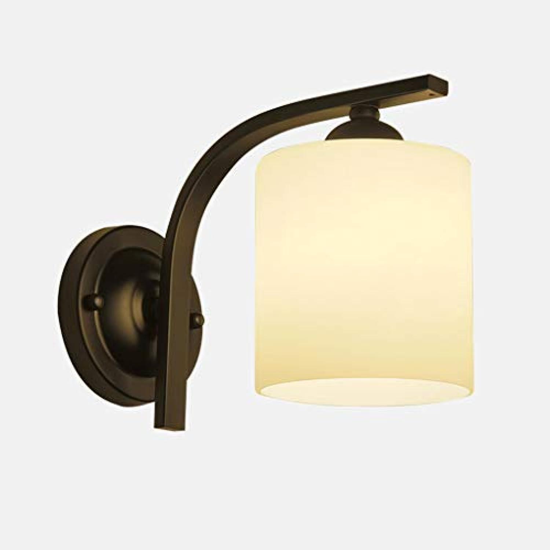 Wandleuchte, American Style Wandleuchte lndlichen lndlichen Stil Schlafzimmer Nachttischlampe Nordic Retro Art Korridor Gang Leuchten E27 Leicht zu Reinigen (Farbe  Single)