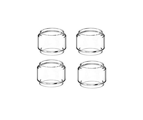 Without brand 4pcs Birne Pyrex Glasrohr gepasst for UD Bellus RTA Vaporesoo Ziel Pro Vaporizer Atomizer Tank-Fat-Glasschlauch (Farbe : 4pcs Bulb Glass)