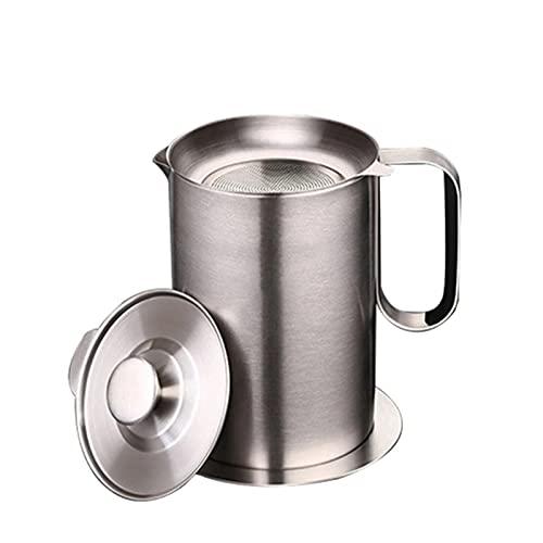 Recipiente del Colador de Aceite La grasa de tocino de la olla del colador de aceite puede almacenar el almacenamiento de aleje de aceite de acero inoxidable con una malla fina para almacenar aceite d