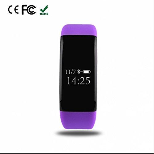 Tracker d'Activité avec Cardiofréquencemètre,Alertes intelligentes,Tracker Sommeil,d'Activité Fitness,Compteur de Calories,Appareil photo à distance,avec Android et iOS système pour Apple/LG/Samsung/Wiko/Huawei/Sony/Meizu etc