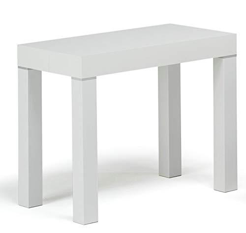 Cordel Table Console Blanc frassinato cm 110 Extensible fabriqué en Italie