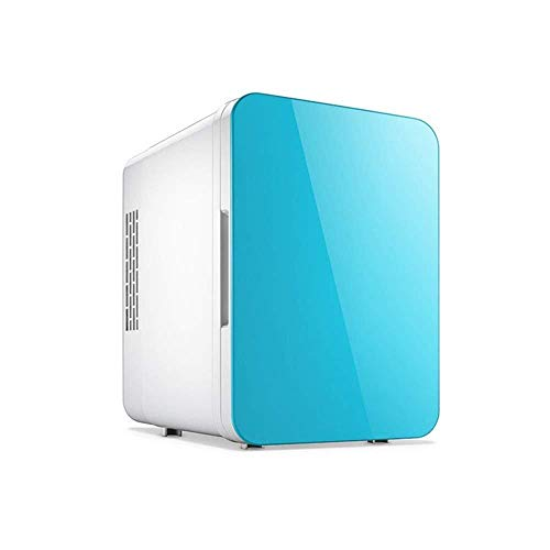 XWYSSH Los organizadores Refrigerador del Coche de calefacción y Aire Acondicionado Nevera pequeña Mini Travel Nevera for el hogar del Dormitorio de la Leche Materna (Color : Azul)