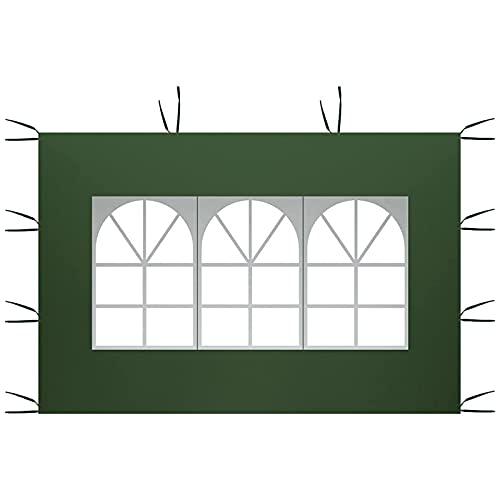 Solo pannelli laterali a baldacchino da 3 m x 2 m, pannelli laterali per gazebo, pannello laterale di ricambio per tenda da gazebo impermeabile, tessuto Oxford 210D, superficie superiore della tenda