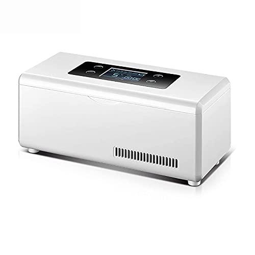 Refrigerador pequeño,Mini refrigerador Caja de refrigerador Pantalla LCD portátil Refrigerador de Control de precisión de Temperatura Constante móvil Refrigeración Recargable por USB Refrigerador p