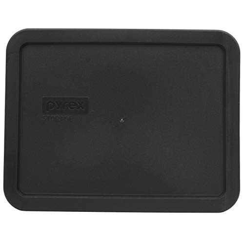 Pyrex 7211-PC Black Plastic Rectangle Replacement Storage Lid