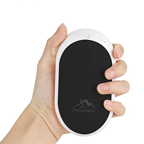 Awroutdoor Calentador de Mano Recargable,7800mAh /5200mAh Calentadores de Manos Bolsillo USB,Banco de...