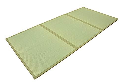 IKEHIKO Alfombrilla de tatami japonesa plegable de 100 x 210 cm para usar directamente en el suelo para dormir o sentarse