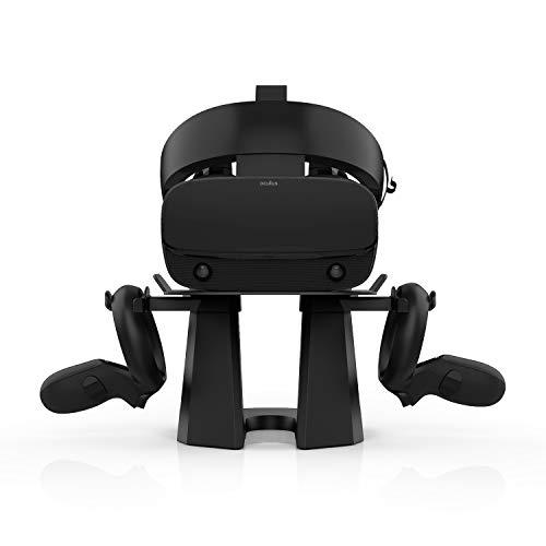 AMVR Upgrade-Version 2. VR-Ständer, stabilerer Basis-Headset-Displayhalter und Controller-Montagestation für Oculus Quest-, Rift-, Rift S-Headset- und Touch-Controller (oculus-stand-V2nd)