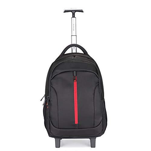 YLLHK Unisex Wheeled Business Rucksack, Waterproof Nylon Travel Trolley Bag, 14 Inch Laptop Backpack Waterproof Wear-Resistant Suitable for School University Travel Business Trip Shopping